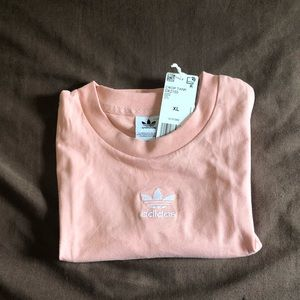 Adidas peach 🍑 dust pink crop tank